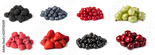 Leinwanddruck Bild  Fresh berries set