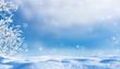 Leinwanddruck Bild - idyllische winterlandschaft