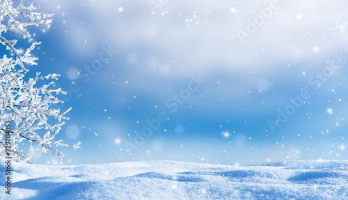 Leinwanddruck Bild idyllische winterlandschaft