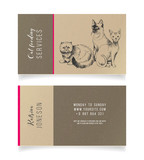 Cat feeding services business card - 229708055