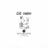 Cat caffee logo template - 229708429
