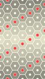 Seamless Hexagon Design. Rhythmic Ornament Background - 229711069