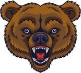 Angry bear head mascot - 229716070