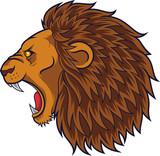 Angry lion head mascot - 229716225