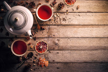 "Постер, картина, фотообои ""Teapot and cup of tea"""