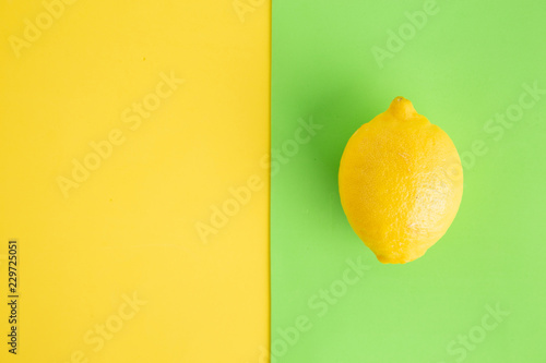 lemon in colorful background - 229725051