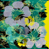 Wind Flowers green and yellow effect