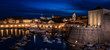 Dubrovnik Old Town Harbour at Night