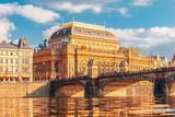 European city architecture, opera house and bridge