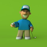Golfer - 3D Illustration