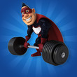Fun superhero - 3D Illustration - 229740825