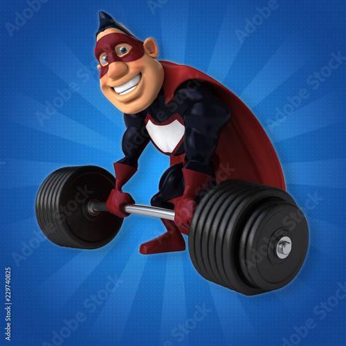 Fun superhero - 3D Illustration - 229740825