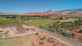 Red Canyon aerial view, Utah - 229756489