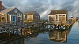 Group of Homes over the Water in Nantucket, U.S.A. - 229756649