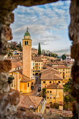 View on the village of Asolo in the province of treviso, Veneto - Italy