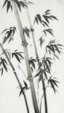 monochrome bamboo trees