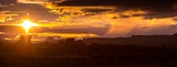 Sunset in the Needles district of Canyonlands in Utah,