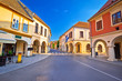 Leinwanddruck Bild - Vukovar town square and architecture street view