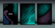 Distortion of Wavy Lines. Trendy Abstract Backgrounds with Vibrant Gradient. Movement and Volume Effect. Futuristic Cover Templates Set for Presentation, Poster, Brochure. Distortion of 3d Shapes.