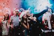 Leinwanddruck Bild - Happy People Taking Selfie on New Year Party.