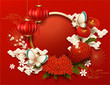 Blank Chinese new year background