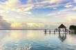 Leinwandbild Motiv Dock at the lagoon