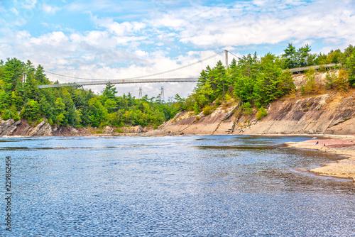 Footbridge at Chutes de la Chaudiere in Levis, Quebec, Canada