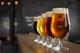 Draught beer in glasses - 229883213