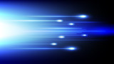 Abstract blue light and shade creative technology background. Vector illustration. - 229890203