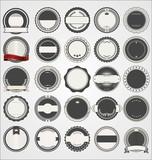 Empty retro vintage badge collection - 229896216