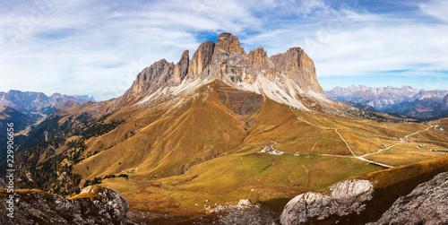 Foto Murales Rock Masiff in Dolomite Mountains