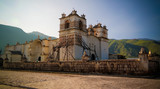Exterior view to Church Of Immaculate Conception, Yanque, Chivay, Peru - 229912446