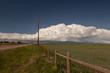 Huge Cumulonimbus cloud over farmland Okotoks Alberta