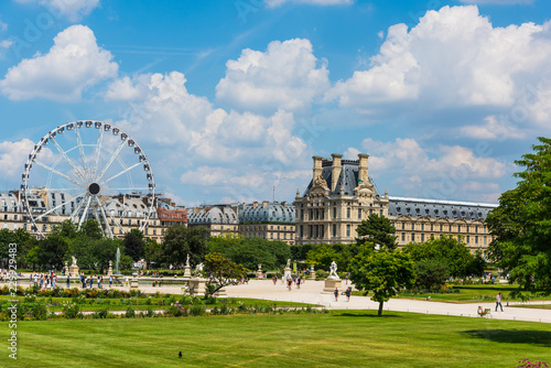 Ferris wheel in Jardin de Tuileries in Paris