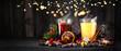 Leinwandbild Motiv Eierpunsch und Glühwein zur Adventszeit