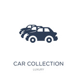 Car collection icon. Trendy flat vector Car collection icon on white background from Luxury collection
