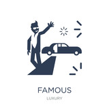 Famous icon. Trendy flat vector Famous icon on white background from Luxury collection