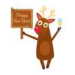 Christmas deer characters