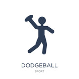dodgeball icon. Trendy flat vector dodgeball icon on white background from sport collection