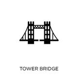 Tower bridge icon. Tower bridge symbol design from Architecture collection.