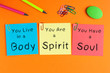 Leinwanddruck Bild - Body Spirit Soul