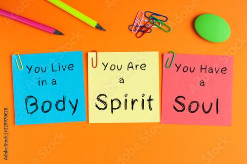 Leinwanddruck Bild Body Spirit Soul