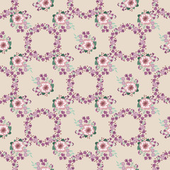 Flowery bright pattern in small-scale flowers. Calico millefleurs. Floral seamless background for textile or book covers, manufacturing, wallpapers, print, gift wrap and scrapbooking.