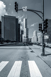 Chicago street blach and white - 229974617