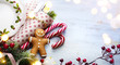 Christmas party holidays ornament; Christmas card background