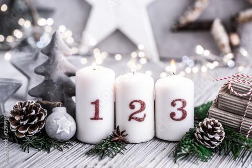 Leinwandbild Motiv Dritter Advent