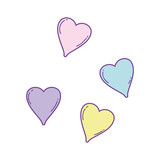 Hearts cute cartoons - 229991865