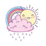 cloud and rainbow cartoon - 229994077