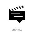 subtitle icon. subtitle symbol design from Cinema collection.