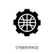 Cyberspace icon. Cyberspace symbol design from Programming collection.